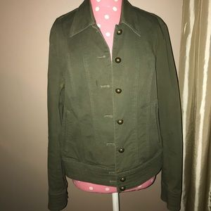 Army Jacket With Brass Buttons